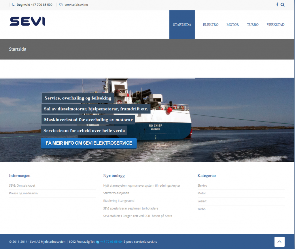 Sevi - Ny WordPress side