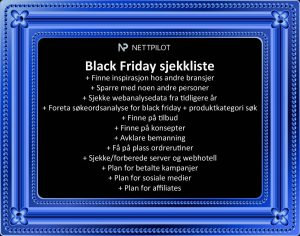Black Friday Sjekkliste
