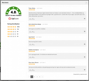 Service reviews i Lipscore