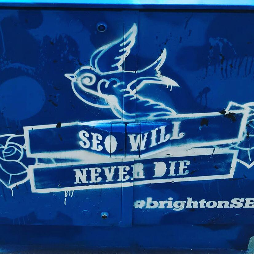 SEO will never die tag fra Brighton